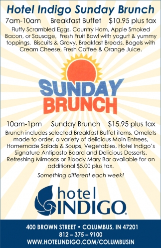 Hotel Indigo Sunday Brunch