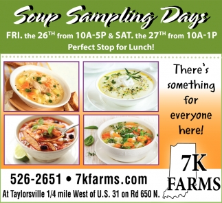 Soup Sampling Days