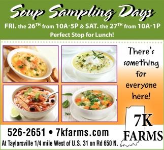 Soup Sampling Days