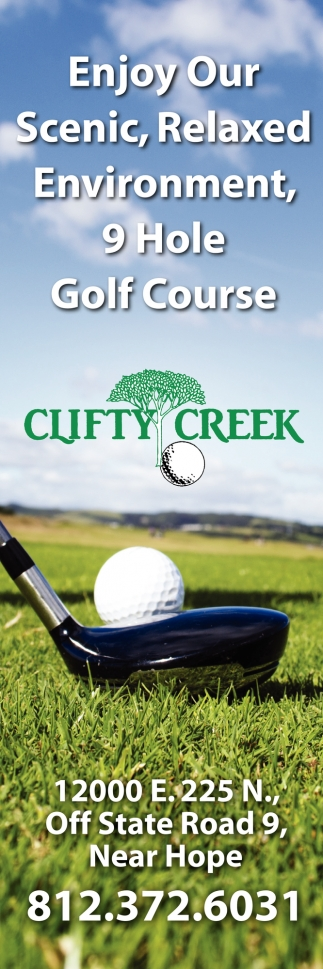 Enjoy Our Scenic, Relaxed Enviroment, 9 Hole Golf Course