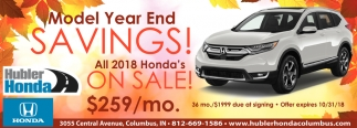 Model Year End Savings!