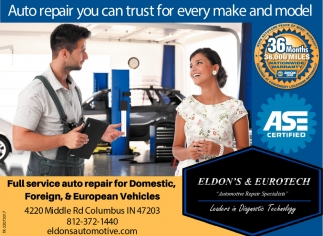 Auto Repair You Can Trust For Every Make And Model