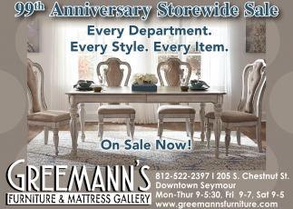 99th Anniversary Storewide Sale