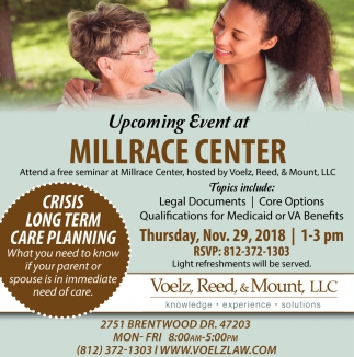 Upcoming Event At Millrace Center