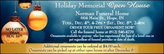 Holiday Memorial Open House