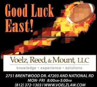 Good Luck East!