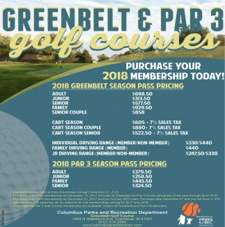 Greenbelt And Par 3 Golf Courses