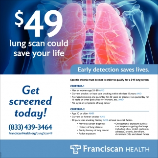 Get Screened Today!