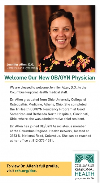 Welcome Our New OB/GYN Physician
