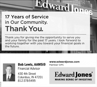 17 Years Of Service In Our Community