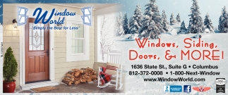 Windows, Siding, Doors And More!