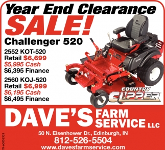 Year End Clearance Sale!