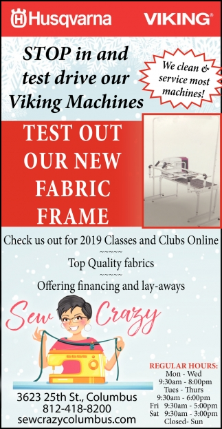 Test Out Our New Fabric Frame