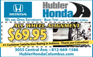 All Wheel Alignment $69.95