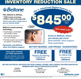 Inventory Reduction Sale
