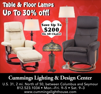 Table & Floor Lamps Up To 30% Off!