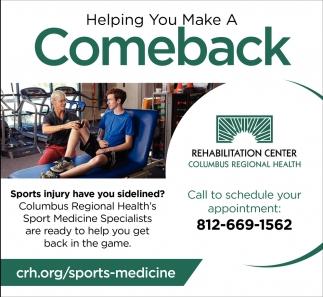 Helping You Make A Comeback