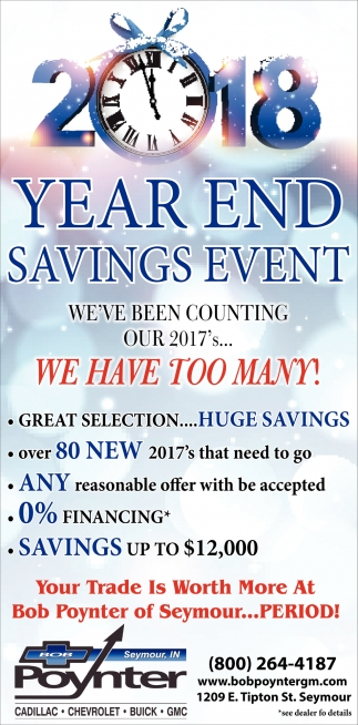 Year End Savings Event