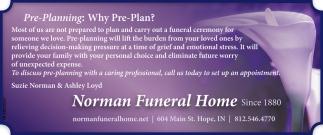 Pre-Plannin: Why Pre-Plan?