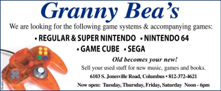 We Are Looking For The Following Game Systems And Accompanying Games