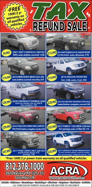 Free 100K Warranty On All Qualified Vehicles