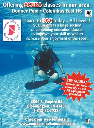 Offering Scuba Classes In Our Area.
