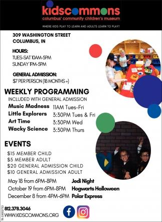 Weekly Programming