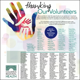 Thanking Our Volunteers