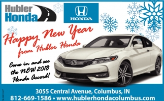 Happy New Year From Hubler Honda
