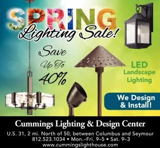 Spring Lighting Sale!