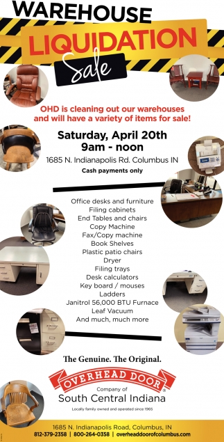 Warehouse Liquidation Sale