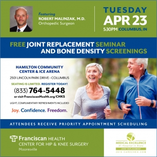 Free Joint Replacement Seminar