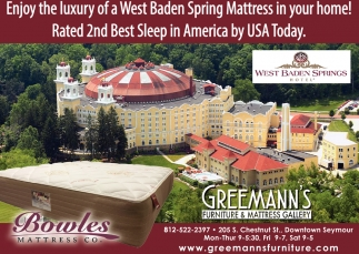 Enjoy The Luxury Of A West Baden Spring Mattress