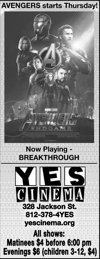 Avengers Starts Thursday