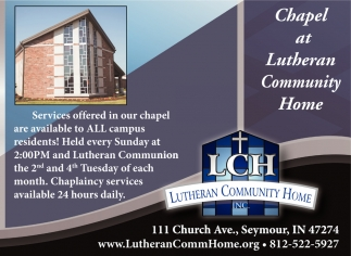 Chapel At Lutheran Community Home