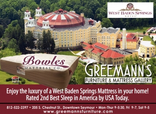 Enjoy The Luxury Of A West Baden Spring Mattress In Your Home!
