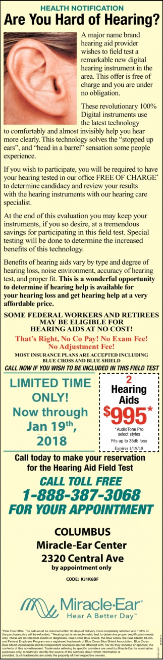 Health Notification: Are You Hard Of Hearing?