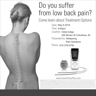 Do You Suffer From Low Back Pain?