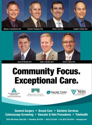 Community Focus. Exceptional Care.