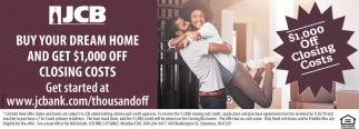 Buy Your Dream Home And Get $1,000 Off Closing Costs
