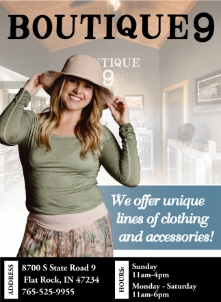We Offer Unique Lines Of CLothing And Accessories