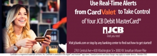 Use Real-Time Alerts From CardValet To Take Control Of Your JCB Debit Master Card