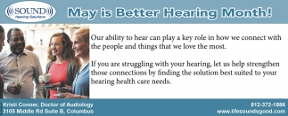 May Is Better Hearing Month!
