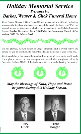 Holiday Memorial Service