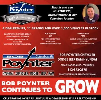Bob Poynter Continues To Grow