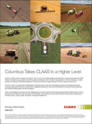 Columbus Takes CLAAS To A Higher Level.