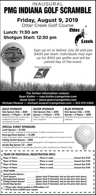 Inaugural PMG Indiana Golf Scramble