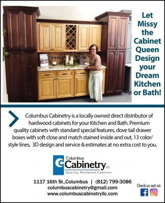 Let Missy The Cabinet Queen Design Your Dream Kitchen Or Bath!