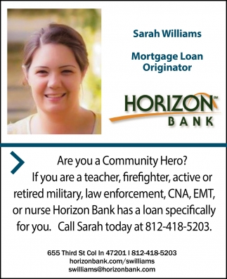 Sarah Williams Mortgage Loan Originator