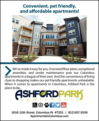 Convenient, Pet Friendly, And Affordable Apartments!